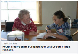 Fourth Graders share published book with Leisure Village writers